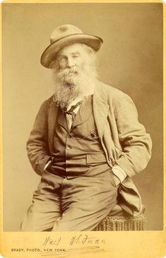 'Walt Whitman' about 1870 by  Mathew B. Brady ( 1823 - 1896)