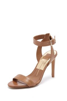 """Strappy heel in a light brown color.Leather upper with man made sole.Buckle closure.    Heel measures approx 4"""" H   Bevin Heel  by Dolce Vita. Shoes - Pumps & Heels - High Heel Hudson Valley, New York"""