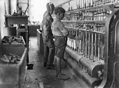 Child workers during the Industrial Revolution. Tiny fingers are perfect for untying knots