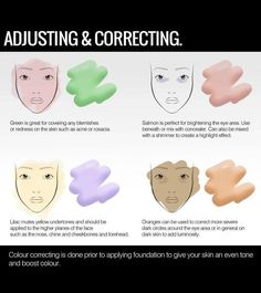 See which color works best to cover blemishes for your skin tone  Visit page for more awesome makeup tips! http://iflmakeup.com/explore/tip
