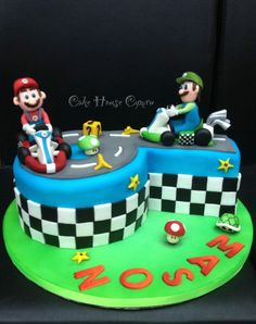 6th Birthday Cake - #Mario & #Luigi cake
