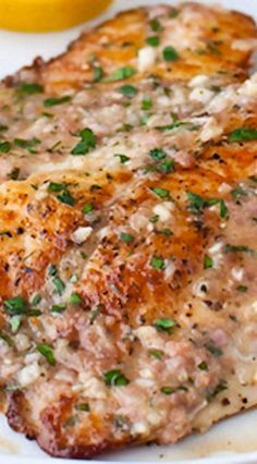 Sautéed Tilapia with Garlic Herb Butter Sauce.... just made for dinner was delicious! !!