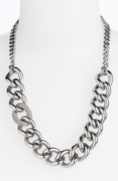 'Luxe Rocks' Pave Link Necklace