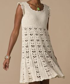 Crochet Dress inspiration-Winona this would be so cute for your girls with a turtle neck and leggings ❤