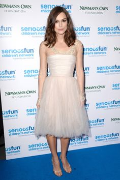 SeriousFun Children's Network Gala, London – December 3 2013  Keira Knightley wore the same Chanel couture spring/summer 2006 dress that she wore on her wedding day and gold strappy Jimmy Choo heels.