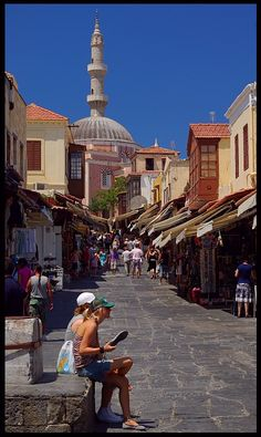 Rhodes, Greece......very lovely.....though the side I saw as a carefree 20-something was slightly different (hic!)