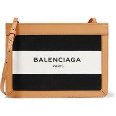 Balenciaga Leather-trimmed printed canvas shoulder bag (27,715 DOP) ❤ liked on Polyvore featuring bags, handbags, shoulder bags, black, balenciaga shoulder bag, zipper handbag, shoulder strap bag, shoulder handbags and convertible handbag