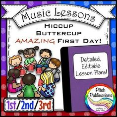 Back-to-School-Music-Lesson-Plan-Hiccup-Buttercup-for-1st-2nd-and-3rd-This is a GREAT lesson for the first day of music! I can't wait to use it! #pitchpublications #musictpt #elmused music education Teaching Resources - TeachersPayTeachers.com