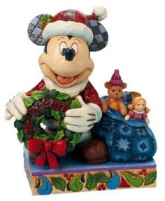 Jim Shore Disney Traditions Santa Mickey Mouse Merry Christmas To You