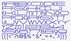 Natasha Jen designed an extendable typeface that can be stretched horizontally like a rubber band. - the blueprint-blue typeface Herita-Geo. It stretches horizontally like a rubber band, then snaps back into place.
