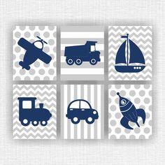 Baby Boy Nursery printable, Navy Blue and Gray, Transport theme, Planes,Rockets… Baby Boy Art, Baby Boy Room Decor, New Baby Boys, Baby Boy Rooms, Baby Boy Nurseries, Boy Nursery Cars, Baby Nursery Themes, Navy Nursery, Nursery Ideas