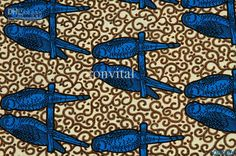 Parrot H407 African Real Wax Print Cotton Fabric / Super Deluxe ...