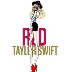 The Taylor Swift Eras - Red #TaylorSwift #FashionIllustration