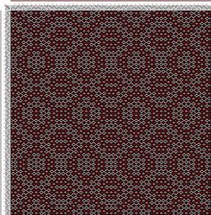 Weaving Draft cw142746, Crackle Design Project, Ralph Griswold, United States, 2004, #13335
