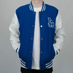 Majestic Athletic LA Dodgers Letterman Varsity Baseball Jacket Blue/White in Clothing, , Mens Clothing, Coats & Jackets Dodgers Outfit, Dodgers Girl, Dodgers Baseball, Varsity Jacket Outfit, Baseball Pants, Teen Fashion, Male Fashion, Casual Outfits, Men's Clothing
