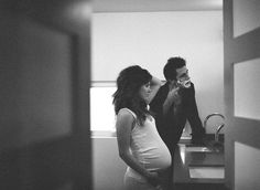 I hate pregnancy photos, but this one is badass.