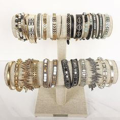 Repeat after me: There is no such thing as too many bracelets. #stelladotstyle #armcandy #bracelets #jewelry