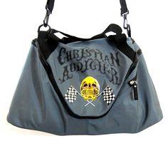 Ed Hardy Christian Audigier Travel Gym Duffle Bag Skull Print Gray Large #ChristianAudigier #TravelBag