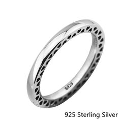 CKK Original 925 Sterling Silver Rings European Style Jewelry Classic Hearts Ring For Women Fashion Charms