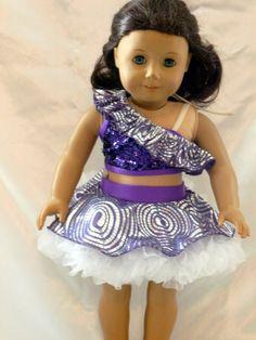 RufflesDance Costume for an 18 inch doll by DancinDollsDesigns, $25.00
