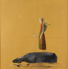 Ștefan Câlția is a contemporary Romanian painter. Born in Brașov, he attended the arts and music high school in Timișoara from 1959 to having Julius Podlipny as a teacher. Wikipedia Born: May 1942 (age Brașov Painting Collage, Paintings, Magic Realism, Communication Art, Portraits, Art Database, Whimsical Art, Rhode Island, Figurative Art