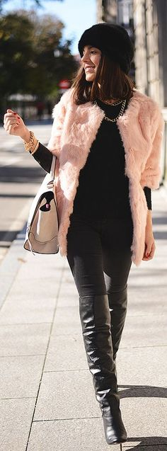 #Pink #Fur #Coat by The Fashion Through My Eyes => Click to see what she wears