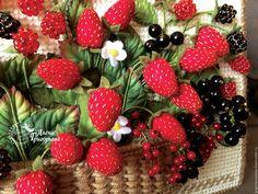 """Купить Сумка """"Ягодное лето"""" - женская сумка, Сумка с вышивкой, сумка с ягодами, летняя сумка"""
