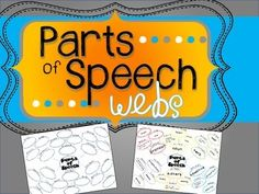 FREE Parts of Speech Webs, kids fill in parts of speech, definitions, and examples, great to add to and refer back to all year
