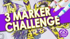 3 MARKER CHALLENGE Coloring Book Page | dreamport parks and play