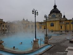 """""""One of the outdoor pools at the Széchenyi Baths, Budapest"""""""