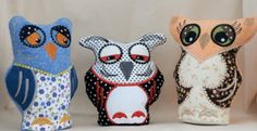 Owl Pin Cushions Pin Cushions, Owl, Projects, Log Projects, Blue Prints, Owls