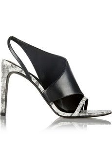 Alexander Wang Benoit paneled printed textured-leather sandals   THE OUTNET