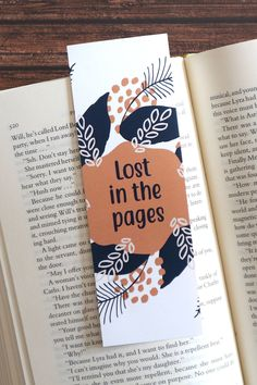 Lost in the pages / Looking for printable bookmarks with quotes? Browse through the shop for a big selection of bookmarks with bookish quotes and more! Printable Bookmarks, Bookmarks Quotes, Bookmarks For Books, Cute Bookmarks, Paper Bookmarks, Corner Bookmarks, Printables, Handmade Bookmarks, Creative Bookmarks