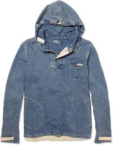 c0eca94150 Polo Ralph Lauren - Blue Denim Hoodie for Men - Lyst