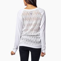 Knit Lace Long Sleeve - Stay comfortable in this Krochet Kids favorite. This knit lace long sleeve tee is effortlessly elegant and the perfect go-to piece for every adventure.