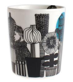 Scopri Mug Siirtolapuutarha -senza manico, Siirtolapuutarha - bianco, nero & verde di Marimekko disponibile su Made In Design Italia il miglior sito online di design.