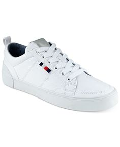 7ffa3cb0b Your white sneaker look goes bold in the comfortable canvas stylings of Tommy  Hilfiger's Priss sneakers