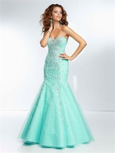 Sweetheart Beadings Lace Up Mermaid Prom Dress PD2756
