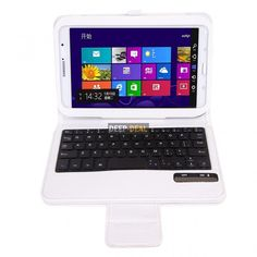 Detachable Bluetooth Keyboard Leather Case Samsung Galaxy Note 8 N5100 N5110 white