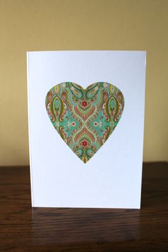 Heart Greetings Card by KitchCards on Etsy