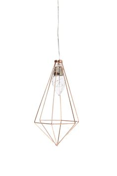 Our coloured hanging pyramid shape metal cage lights are the perfect accessory to any room! <br> Available in different colours and battery operated, you can move them whenever you like.  <br> Made from metal, plastic & rubber. Requires 2 x 1.5V AA batteries - batteries not included. <br> Each light measures 17cm H. <br/>