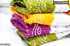 Dupattas, Sarees & more at #SANKALP - The Bandhej Shoppe..  #clothing #saree #dupatta #bandhani #cityshorahmedabad