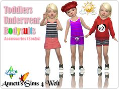 Sims 4 CC's - The Best: Toddlers Underwear Bodysuits by Annett85