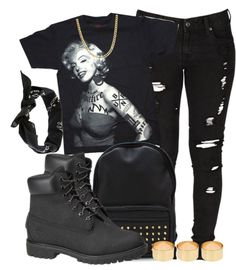"""Tatted Marilyn."" by cheerstostyle ❤ liked on Polyvore"