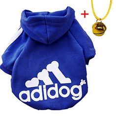 Moolecole Pet Dog Cat Sweater Puppy T Shirt Warm Hooded Coat Clothes Apparel with Colorful Pet Bell (M, Sapphire Blue) Item Includes: 1*dog cloth and 1* colorful pet bell 100% Brand New. Size: XS(Neck:7.9'', Read  more http://dogpoundspot.com/moolecole-pet-dog-cat-sweater-puppy-t-shirt-warm-hooded-coat-clothes-apparel-with-colorful-pet-bell-m-sapphire-blue/  Visit http://dogpoundspot.com for more dog review products