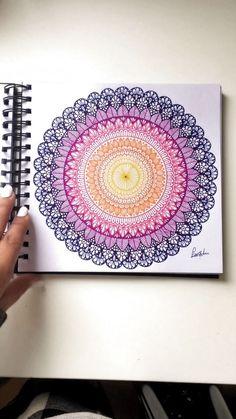 My 2019 mandala drawings - Mandala and zentangle Easy Mandala Drawing, Mandala Sketch, Mandala Doodle, Doodle Art Drawing, Cool Art Drawings, Simple Mandala, Mandala Book, Mandala Art Lesson, Mandala Artwork