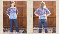 Dark Denim Jeans sewn by Kimberlee from Kimberlees Korner Sewing Jeans, Dark Denim Jeans, Sewing Projects, Challenge, Blouse, Tops, Women, Fashion, Moda