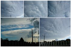 mammatus clouds. photos taken by my friend, Rafael Toshio.