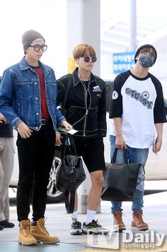 BTS 160601 | Rap Mon, JHope and Jungkook #airport fashion