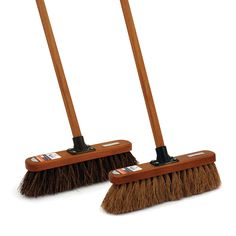 This countryman set is the perfect combination for all your sweeping needs. Soft and Stiff 12'' broom heads. Buy broom with free UK mainland delivery now.